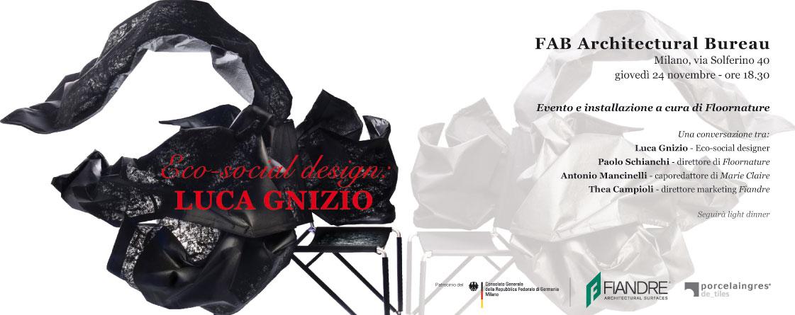 Fab milano presenta la quinta one night eco-social design: luca gnizio